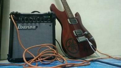 Ibanez guitar & amp