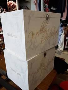 Wedding Nikah angpao packet collection wooden box