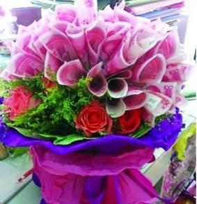 Valentine - money flower / bouquet