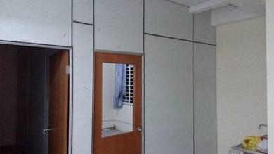 Renovation pasang partition drywall klang