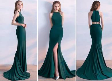 Green prom dinner wedding dress gown RBP0114