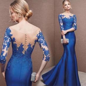 Blue prom wedding bridal dinner dress gown RBP0119