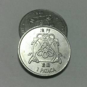 Duit syiling 1983 Hong Kong Macau 1 Patacas
