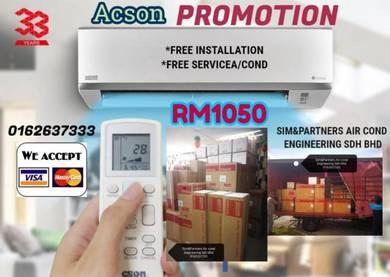 Acson 1hp *aircond air cond promo siap Pasang