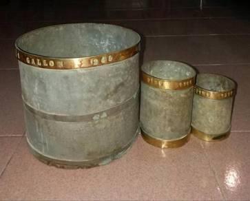 SET Gantang Leng Pot emas gold kayu rolex cupak