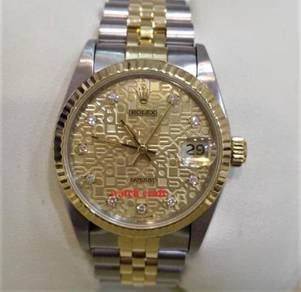 Rolex 68273 Gold Computerize wt. Diamonds Index