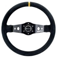 Sparco 215 Steering Wheel Black Suede - 350mm