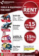Tools & Equipment ror Rent - DIY Project