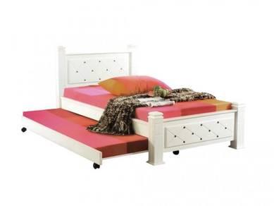 Katil kayu single bed frame divan perabot 416