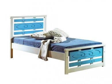 Katil kayu single bedframe perabot 402