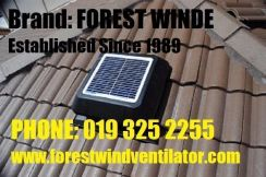 WS3 Wind Turbine Ventilator - Solar Model Fox15W