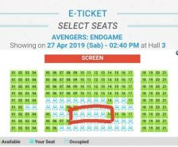 Avengers Endgame Movie Ticket Mega Cineplex Bertam