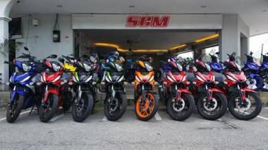 Honda rs150 repsol deposit kasih sayang MERDEKA 19