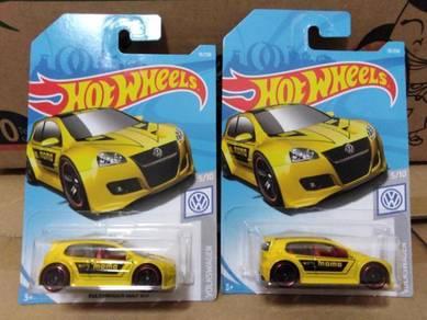 Hotwheels Volkswagen Golf GTI Yellow