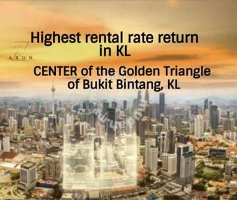 Bukit Bintang, KL Highest rental return, walk to KL Pavilion Mall