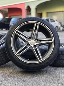 Vossen cv5 16 inch sports rim alza tyre70%