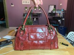 Piear cardin leather handbag