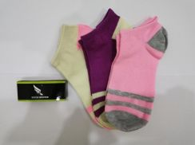 Sock Master Women Colourful Stripes Socks 3 pairs