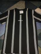 Adidas stripe black & white t-shirt