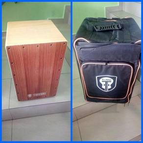 Cajon Techno Wooden with Padded cajon Bag