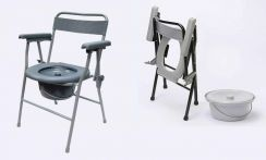 Folding Chair Toilet seat stool kerusi tandas aid