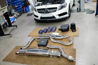 Mercedes w117 cla install armytrix exhaust system
