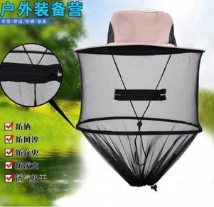 Windproof mosquito wild fishing hat