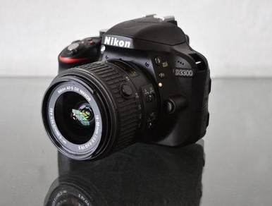 Nikon D3300 24MP 18-55mmVR lens, better than D3400