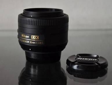 AFS 35mm F1.8 DX lens for NIKON DSLR, EXCELLENT