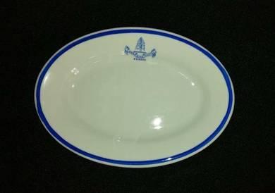 Vintage Plate of Lone Pine Hotel
