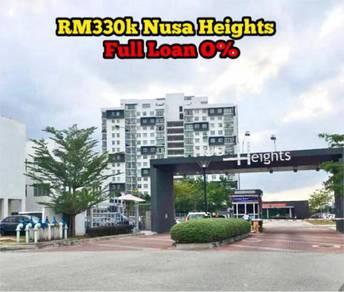 Nusa Heights FULL LOAN High Flr Gelang Patah Bukit Indah Skudai