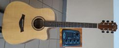 A&K Semi Acoustic Guitar 41 Inch 530CEQ SOLID