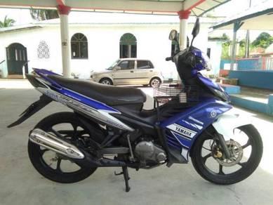 Yamaha 135 LC V2 biru GP cantik
