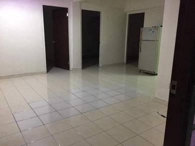 Partially Furnished 4 Rooms 2 Bath Corner Unit Danau Kota Flat Setapak
