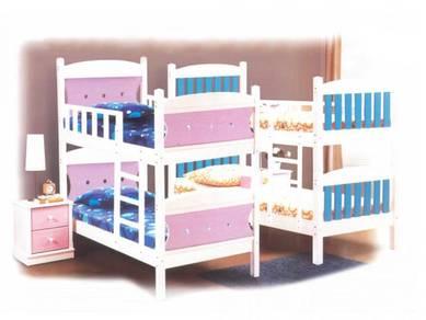 Katil kayu single divan bedframe perabot 415