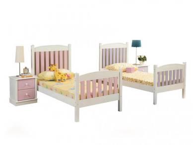Katil kayu single bed bedframe perabot 415