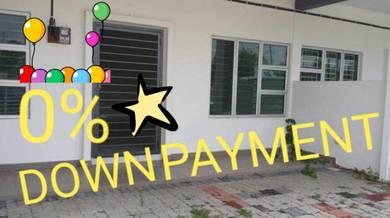 0% down payment - taman nusa bayu double storey terrace house