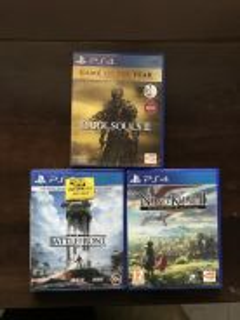 PS4 games Dark souls Star wars Nino