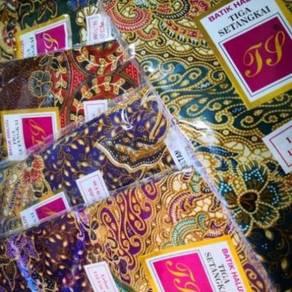 Kain batik 3 setangkai siap jahit