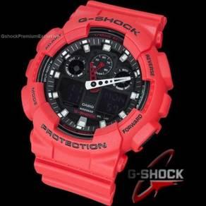 [Gunuine] G-Shock GA-100B-4ADR Gshock Red