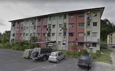 100% lon , flat Batu 13 kuching serian road ( ground floor )