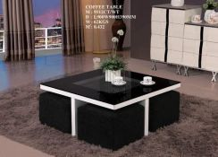 Coffee table with stool (M-9512-CT)22/4