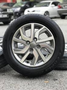 Original 14 inch sports rim bezza advance tyre 80%