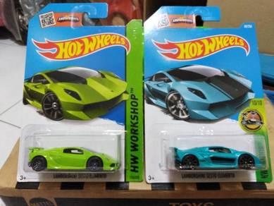 Hotwheels Lamborghini Sesto Elemento Lot 2pcs