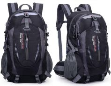 J0170 Black Hiking Climbing Travel Bag Backpack
