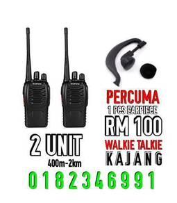 Kajang set walkie talkie(free 1pcs earpiece)
