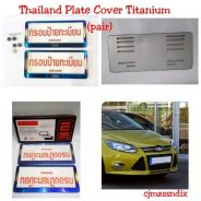 Thailand nombor Plate Cover titinum