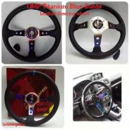 OMP steering wheel titinum rainbow thailand colour