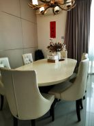 Marble table with 6seaters.