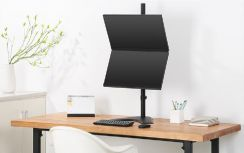 Brateck Dual 2 Monitor Vertical Desk Mount Stand